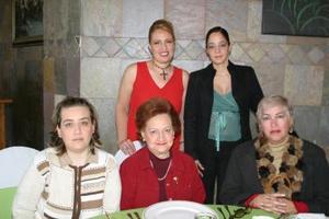 Alma de Machado, Sara Cabada de Zorrilla, Sara Zorrilla Cabada, Gaby Torres de Villalpando y Carola V.