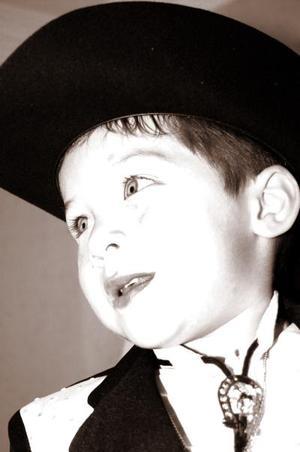 Efraín Salvador González Silva, captado el día que cumplió tres años de vida.