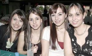 Gilda Berrueto, Ana Lorena García, Myrna Hoyos y Judith Hernández.