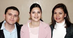 Agustín Prieto, Coco Rentería y Mayra Rentería.