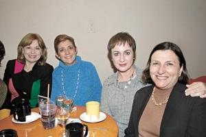 Alicia Villarreal, Ana Laura de Saravia, Laura de Jiménez y Malena Luengo de Siller.