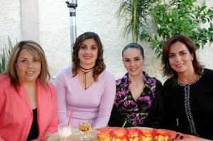 <b>01 de marzo </b> <p>   Rocío M. de González, Marcela S. de Cantú, Any M. de Mena y Tere M. de Díaz.