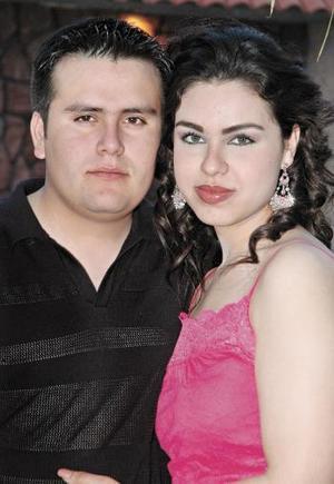 Carlos del Río y Vanessa Meraz