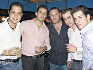 Alex, Blas, Damián, Enrique e Israel