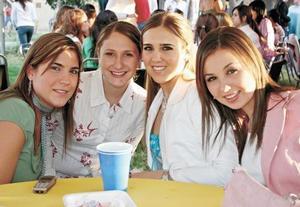 Valentina Treviño, Luly Berlanga, Ana Laura Treviño y Mariana Algara
