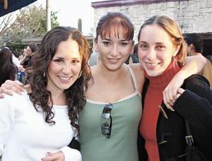 Paulina Garza, Bárbara Berlanga y Edna Garza