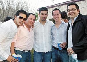 Antonio de la Fuente, Carlos Manjarrez, Emilio Gutiérrez, Poncho Zermeño y Alejandro Fernández