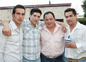 Los festejados: Manolo Fernández Martínez, Alejandro Martínez Filizola, Carlos Manjarréz Milán y Sergio Lastra Camacho