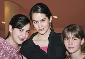Angélica, Daniela y Mariana Sesma