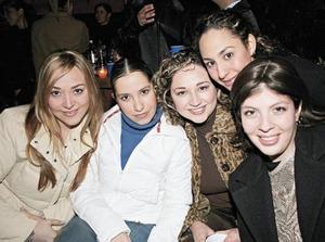 Ana Paola Madero, Alejandra Aguilar, Priscila Álvarez, Tania Mansur y Roxana Montañés