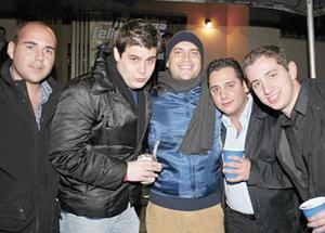 Luis Galindo, Francisco Hinojosa, Diego Rodríguez, Alejandro Najera y Jorge Cepeda