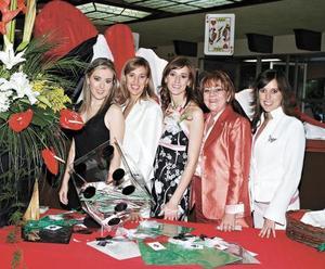 Laura Sánchez Von Bertrab, Ana Isabel Sánchez de Raigosa, Cristina Sánchez Von Bertrab, Silvia Papadópulos de Murra y Marala Sánchez de Garza Tijerina