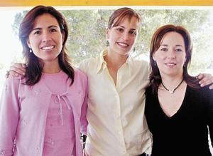 Irene de Fernández, Gabriela Díaz y Griselda de Garza Tijerina