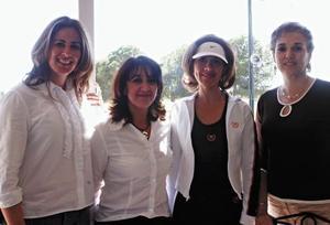<I>DESAYUNO DE FORÁNEAS</I><P>Mayoya de Saldaña, Ana Maria de Pedroza, Rocío Muñoz y Cristy de Zesati