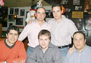 Marcelo Obseso, Arturo Madero, Alberto Dávila Fayad, Antonio Gilio y Eduardo Ibargüengoitia.