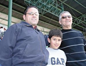 Gerardo Bejarano, Andrés Bejarano y Guillermo Milán