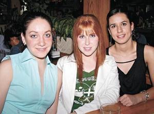 Maria Elena Bueno, Marlene Gidi y Daniela Gaytán
