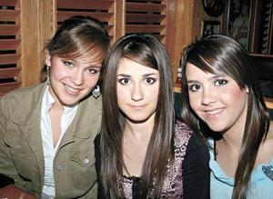 Carmina Fernández, Karina Berlanga y Paulina Giacomán