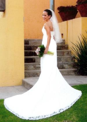 Srita. Eliza Yañez Bustamante, el día de su boda con el Sr.  Alberto Gaitán.