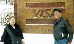 Los hermanos Hermilo Conde Esquivel y María Elvia Conde, captados en Los Andes.