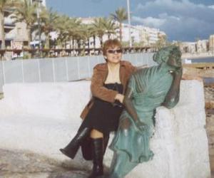 Lupita Cornejo de Hernández en su más reciente visita a tierras españolas, en la ciudad de Alicante