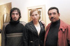 Ricardo Corazón, Marina Vitela y Humberto Orona.