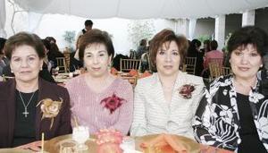 <b>06 de marzo 2005</b> <p> Tata N. de Fernández, Payo de Hinojosa, Susana de Sepúlveda y Mila de Berumen.