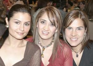 Graciela Villalobos, Alicia Luévanos y María Dabdou.