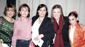<b>07 de marzo </b> <p> Nayeli de Fernández, Nena de Fernández, Cecy de Moncholi, Arlette Maycote y Anly García