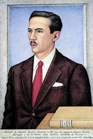 Retrato de Salvador Toscano Escobedo, de Juan Ogorman forma parte de la muestra Premio Nacional de Ciencias y Artes, 60 años de historia plástica inaugaurado en el Museo Nacional de Historia.