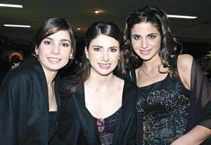 Lidia Martínez, Laura Batarse y Alejandra Batarse.