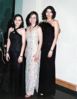 Rita Merlet, Nadia Jaramillo y Cristina Maciel.