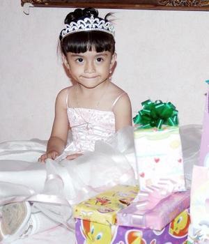 La pequeña Dafne Guadalupe Espelta González cumplió tres años de vida.