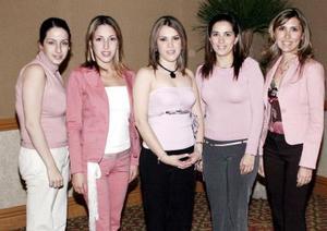 Analía de Álvarez, Diana de Guevara, María Elena Cedillo, Lorena González y Mónica de Pérez.