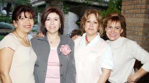 Chepis de Perches, Maru de Kort, Lupita de Ruiz y Linda de Rodríguez.