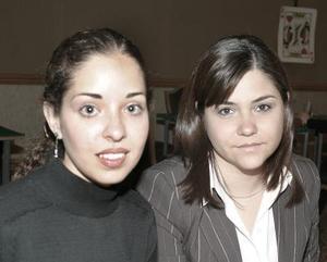 Daniela de Zermeño y Diana de Salas.