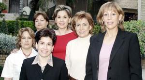Anfitrionas, co-anfitrionas, conferenciantes y presidenta del  Club de Jardinería Alhelí
