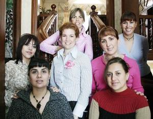 Elisa S. de Milán, Isabel Quintanilla, Gaby Santos, Mayra Siller, Rocío Díaz y Mónica Morales le organizaron una despedida de soltera a Anayda Lahoz Portela, por su cercano enlace nupcial.