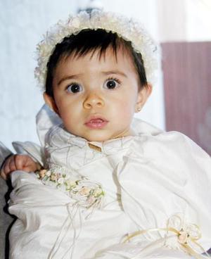 Con motivo de su primer año de vida, la pequeña María Guadalupe Mendoza Orozco disfrutó de una merienda.