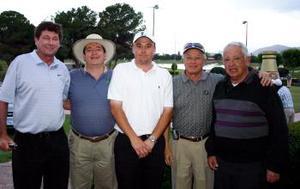 <b>15 de marzo 2005</b> <p> Steve Haskins, Ignacio Aguirre, Javier Quevedo, Salvador Gómez y Raúl González.