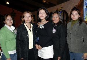Jéssica Muñoz, Nora Silios, Perla Méndez y Fabiola Aguilar.