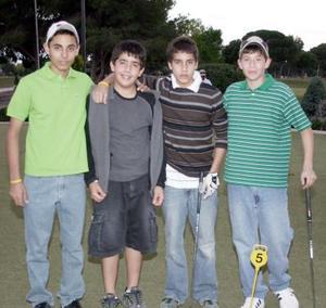 Armando Acosta, Rodolfo Soto, Manolo Acevedo y Guillermo Saldaña