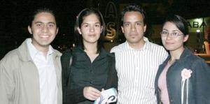 Luis Eduardo González, Dulce Frayre, Luis Rodrigo López y Alejandra Guerra.