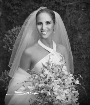 Srita. Miriam Martínez Guzmán el día de su enlace nupcial con el Sr. Jorge Batarse Talgie