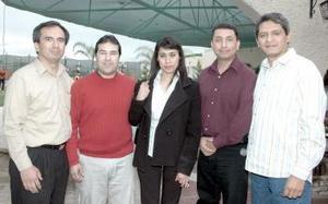 Fernando Andrade, Eduardo Félix, Edith Aguilar, Carlos Ramírez y Cruz Valdez.