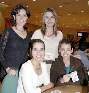 Lucy de CUerda, Nora de Máynez, Mariestela de Fernández y Zaide de Martínez.