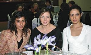 Elena Siller, Vanesa Valdepeñas y Isabel Máynez