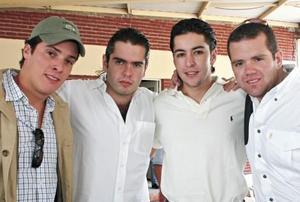 Daniel Fernández, Juan Carlos Von Bertrab, Juan Manuel Solis y Javier Aguilera