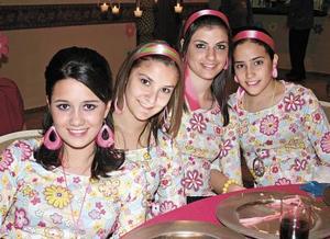 Claudia Rebollo, Georgina Mena, Marian Marcos y Mariana Díaz de León