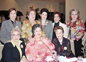 Beatriz R. de López, Rosita Torres, Amelia Boheringer, Gabriela Castillón, Queta G. de Cepeda, Estela G. de Reed, Maca de Martínez y Güera de Murra